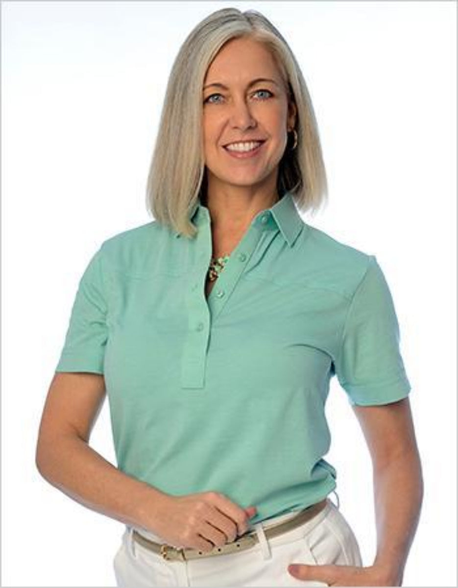 Short Sleeve Solid Polo</br>Sea_Breeze_092