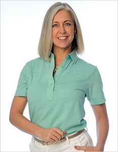 Short Sleeve Solid Polo</br>Sea_Breeze_092 - Leonlevin