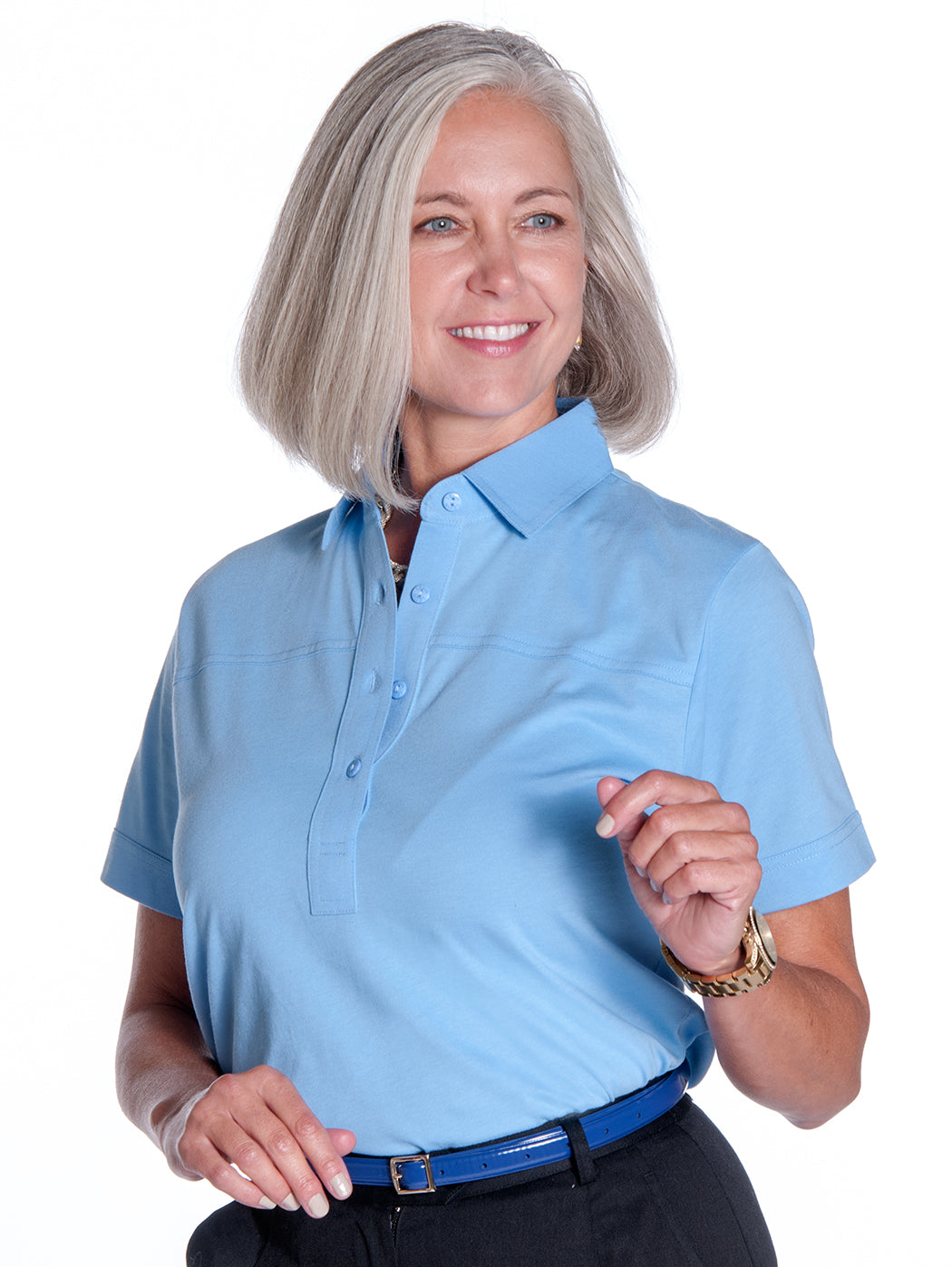 Short Sleeve Solid Polo</br>Wedgewood 20P