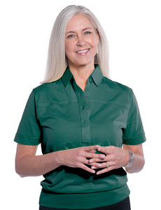 Banded Bottom Solid Polo | Malachite 30J - Leonlevin