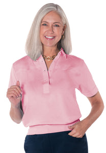 Banded Bottom Solid Polo</br>Daiquiri 26P - Leonlevin