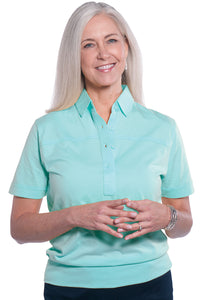 Banded Bottom Solid Polo</br> Seaspray 21P - Leonlevin