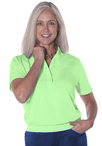 Banded Bottom Solid Polo | Spearmint 751 - Leonlevin