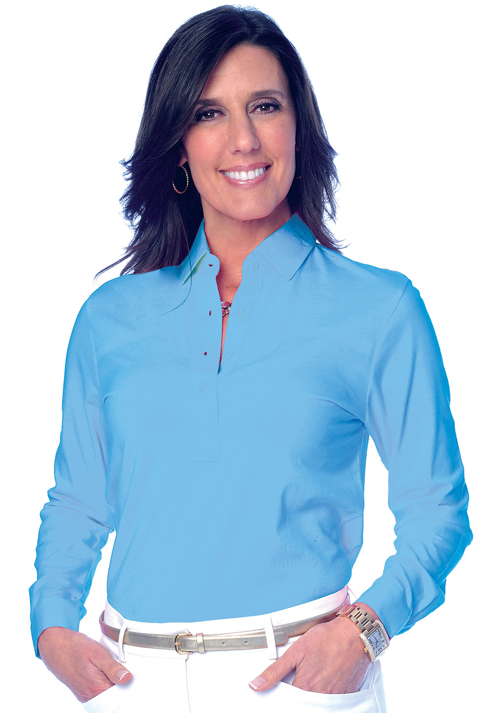 Long Sleeve Solid Polo</br>Riviera 27P