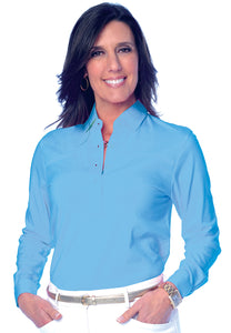 Long Sleeve Solid Polo</br>Riviera 27P - Leonlevin