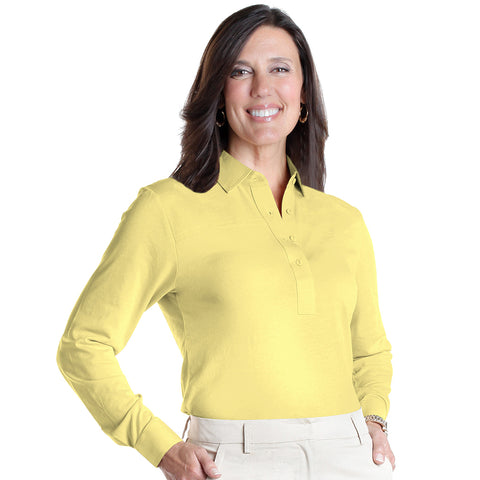 Long Sleeve Solid Polo | Lemonade 509 - Leonlevin