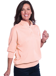 One Size Fits All Solid Polo Sugared Peach 24P