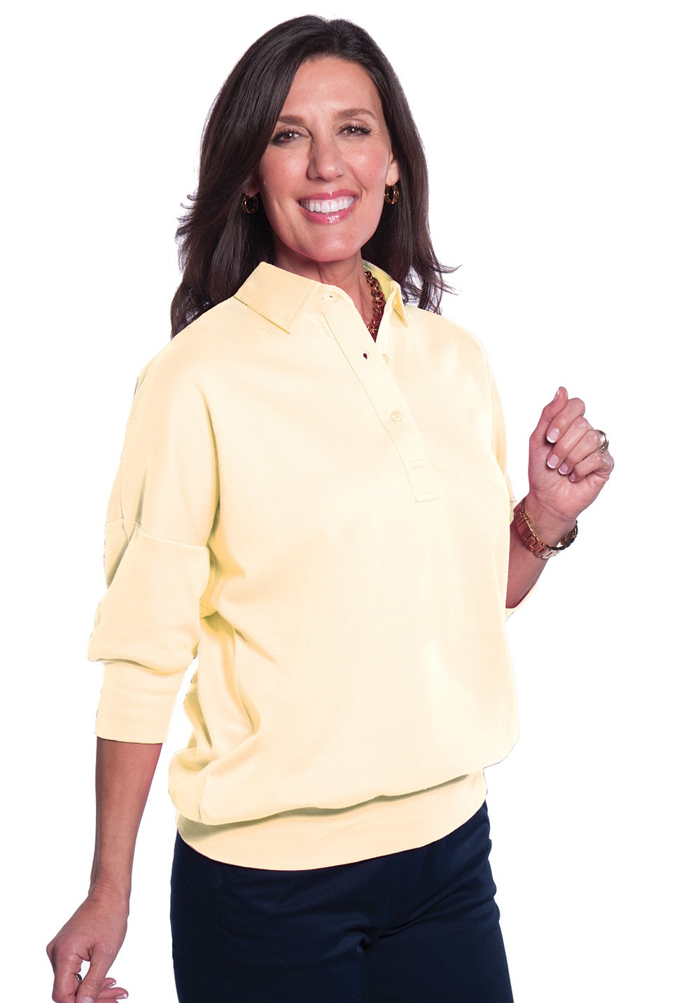One Size Fits All Solid Polo Sundrop 23P - Leonlevin