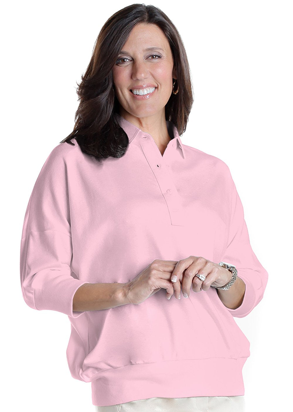 One Size Fits All Solid Polo</br>Carnation 753