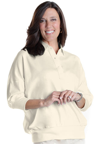 One Size Fits All Solid Polo Cream 005