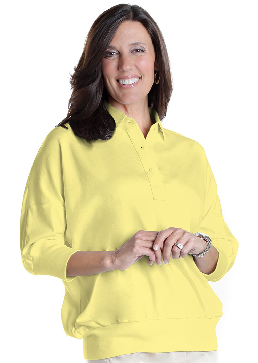 One Size Fits All Solid Polo</br>Lemonade 509