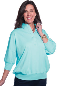 One Size Fits All Solid Polo Seaspray 21P