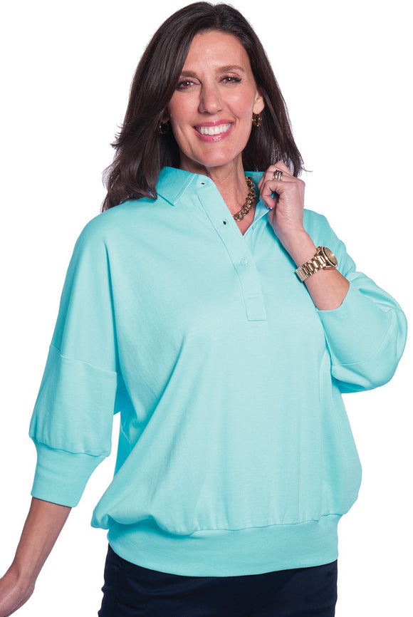 One Size Fits All Solid Polo</br>Seaspray 21P