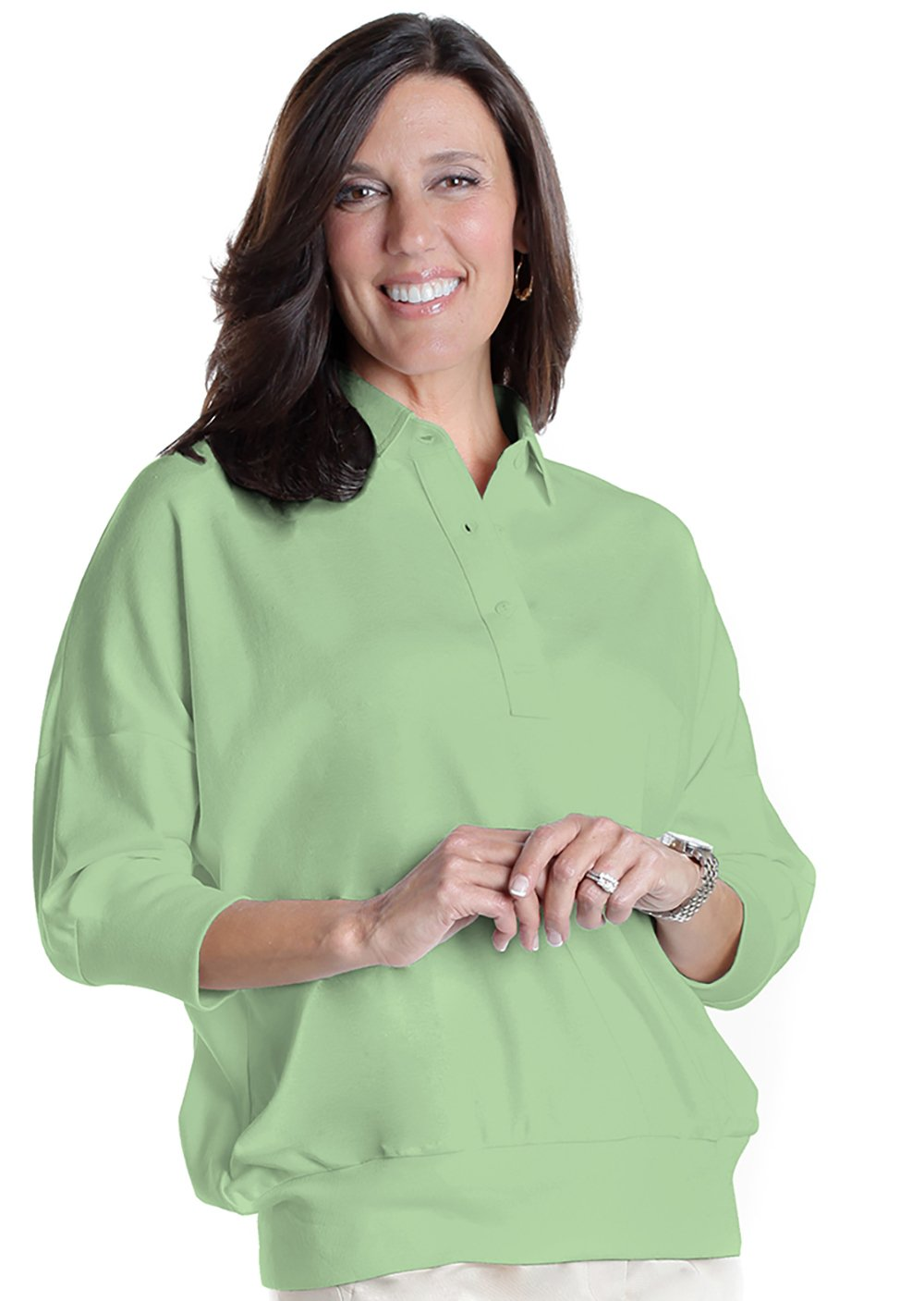 One Size Fits All Solid Polo Spearmint 751