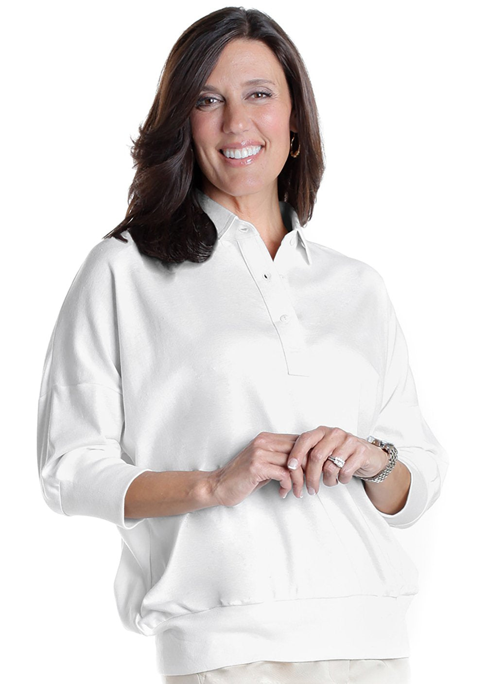 One Size Fits All Solid Polo</br>White 000