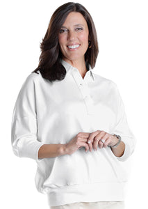 One Size Fits All Solid Polo White 000 - Leonlevin