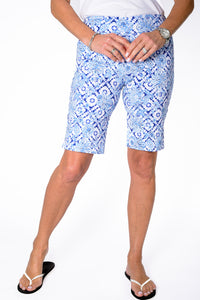 Walking Short with Comfort Stretch | Batik Floral 50G - Leonlevin