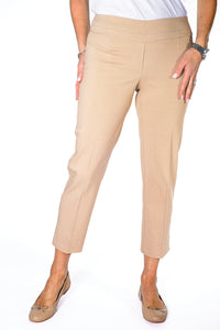 Ladies Ankle Pant Tan 50C - Leonlevin
