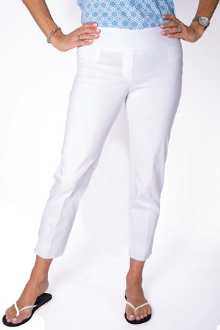 Ladies Ankle Pant | White 000 - Leonlevin
