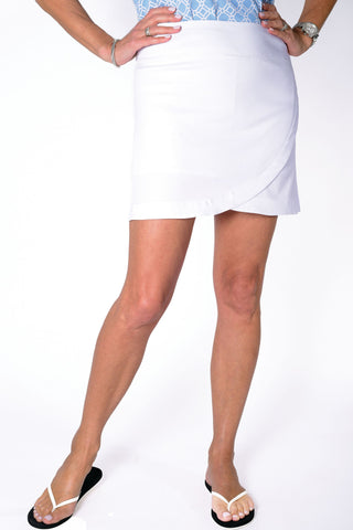 Solid Q-Skirt White 000 - Leonlevin