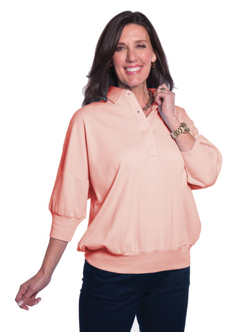 One Size Fits All Solid Polo Apricot 20A