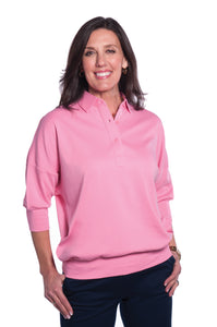 One Size Fits All Solid Polo Bermuda Pink 264