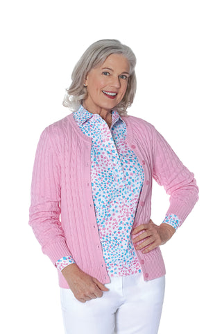 Long Sleeve Print Polo Shirt | Spot On 32E
