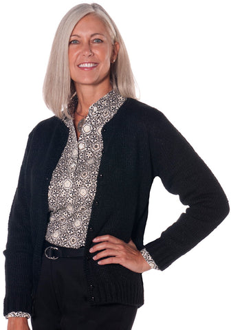 America's Favorite Cardigan Black 090