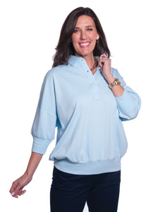 One Size Fits All Solid Polo Bluebell 755
