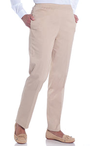 Stretch Twill Ladies Pull-On Pant | Sand S50
