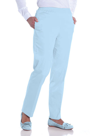 Petite Stretch Twill Pull-On Pant | Bluebell 755 - Leonlevin