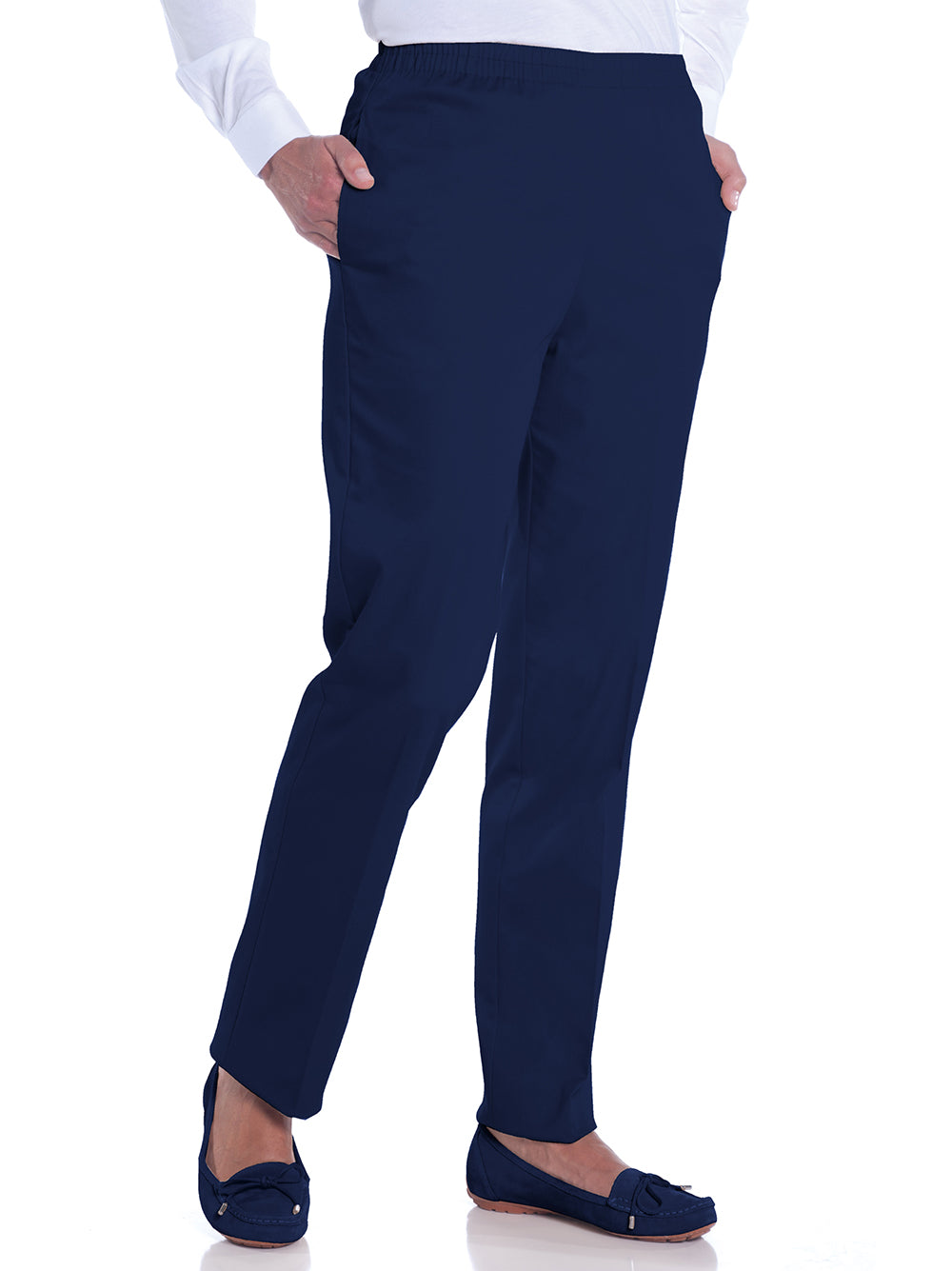 Stretch Twill Ladies Pull-On Pant | Ink E76 - Leonlevin