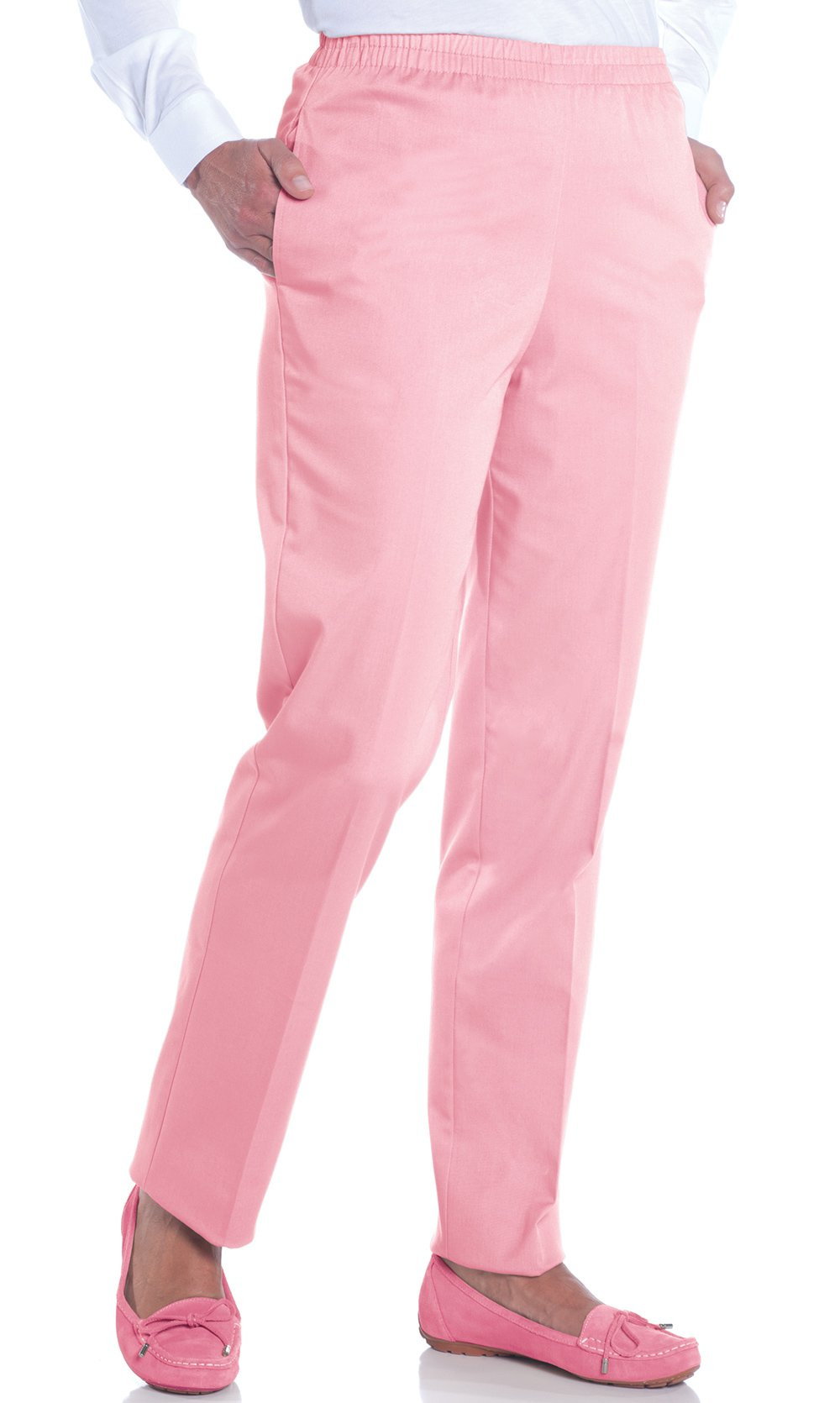 Petite Stretch Twill Pull-On Pant</br>Rosetone 792