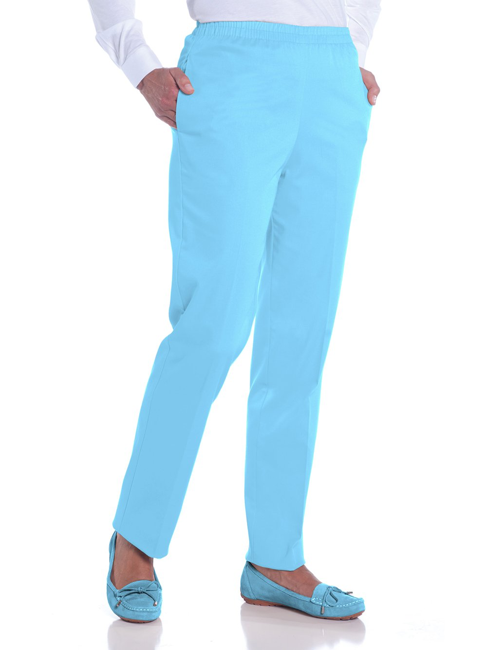 Stretch Twill Ladies Pull-On Pant</br>Atlantis 091 - Leonlevin