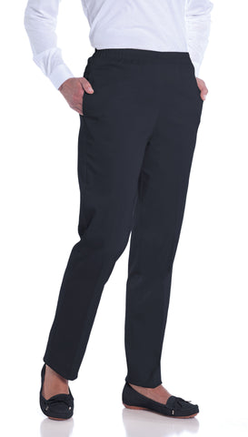 Stretch Twill Ladies Pull-On Pant</br>Charcoal 536 - Leonlevin
