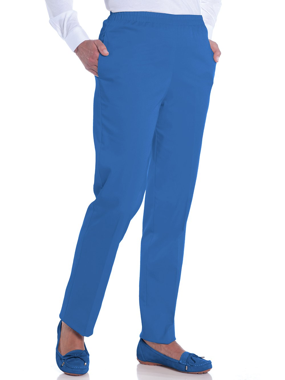 Stretch Twill Ladies Pull-On Pant | Bright Admiral 20C - Leonlevin