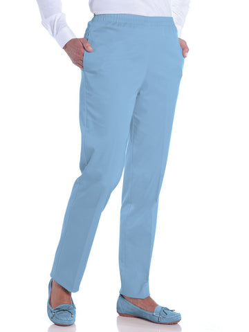Stretch Twill Ladies Pull-On Pant</br>Wedgewood 20P - Leonlevin