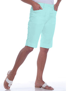 L-Pocket Bermuda Shorts | Aqua Glass 612 - Leonlevin