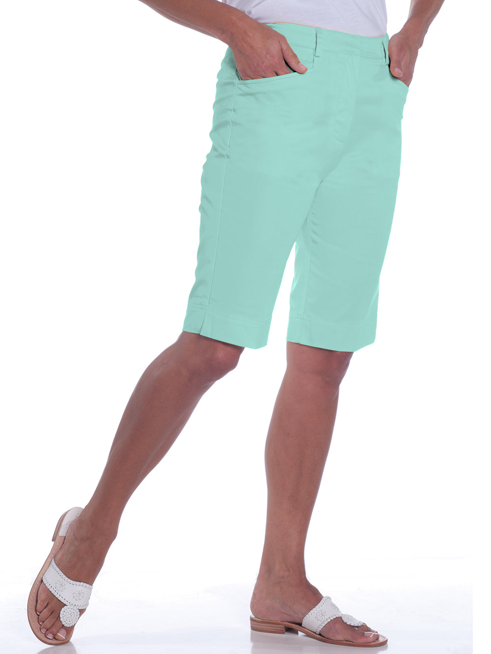 L-Pocket Bermuda Shorts</br>Sea Breeze 092
