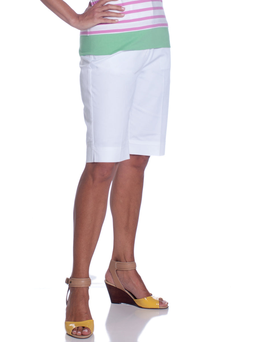 L-Pocket Bermuda Shorts</br>White 000
