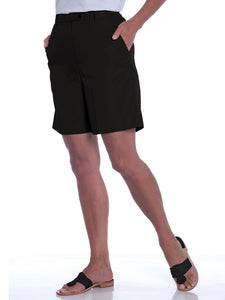 Stretch Twill Flat Front Shorts</br>Black 090