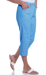 Stretch Twill Flat Front Capris</br>South Pacific P11 - Leonlevin