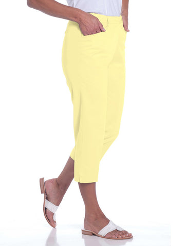 Stretch Twill Flat Front Capris</br>Lemonade 509