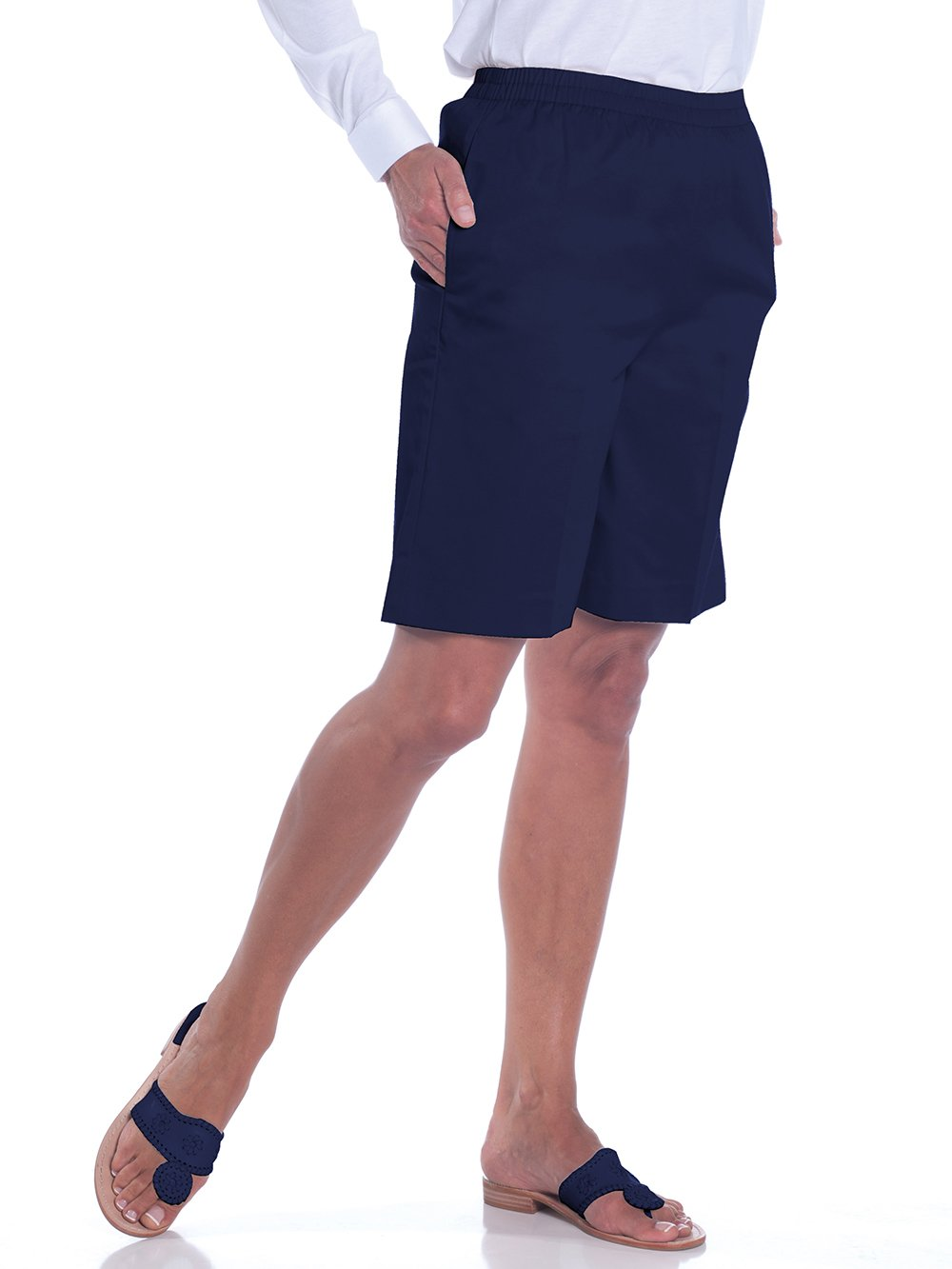 Stretch Twill Pull-On Shorts</br>Ink E76 - Leonlevin