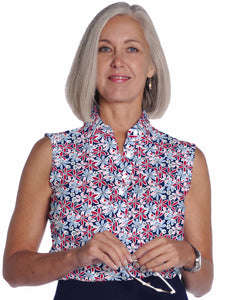 Sleeveless Print Ladies Polo Shirt Something Special 10S - Leonlevin