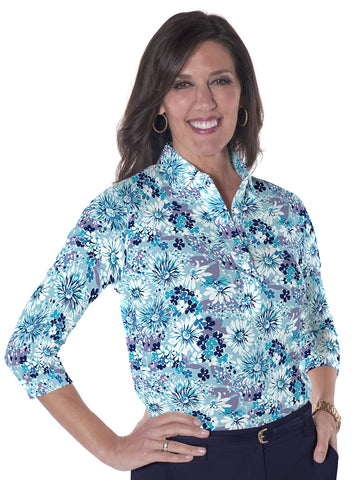 Three Quarter Sleeve Print Polo</br> Always & Forever  20T