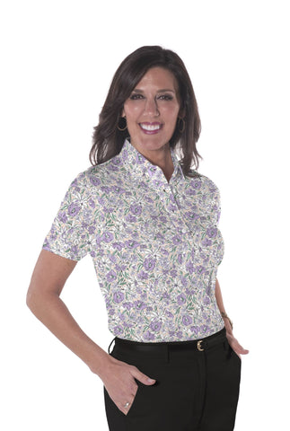 Ladies Short Sleeve Print Polo Shirts</br>Fancy This 02G - Leonlevin