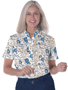 Ladies Short Sleeve Print Polos-br-Easy Breezy 04C - Leonlevin