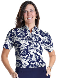 Short Sleeve Print Polo</br>Bold and Beautiful 05F