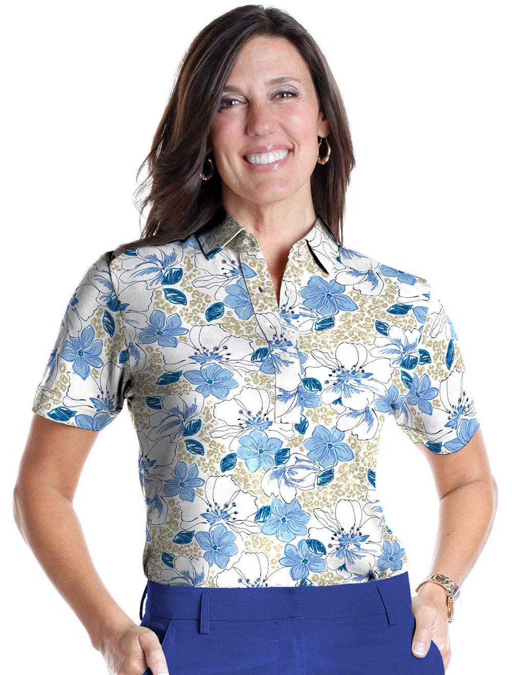 Short Sleeve Print Polo</br>Force of Nature 05G